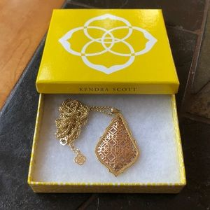 Kendra Scott Rose Gold and Gold Necklace
